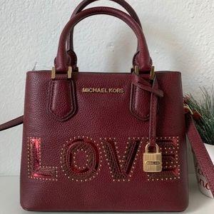 Michael Kors Adele Merlot MD Messenger bag